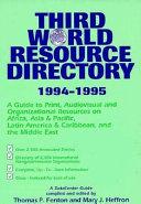 Third World Resource Directory  1994 1995