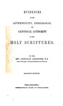 Evidences of the Authenticity, Inspiration, and Canonical Authority of the Holy Scriptures ebook