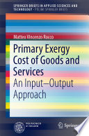 Primary Exergy Cost of Goods and Services Book