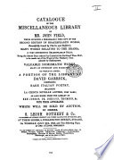 Auction catalogue, books of David Garrick, 25 July 1848