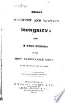 Grigg's Southern and Western Songster