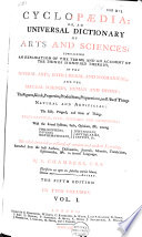 Cyclop Dia Or An Universal Dictionary Of Arts And Sciences  Book PDF