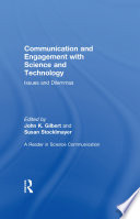 Communication and Engagement with Science and Technology Book