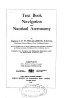 Text Book of Navigation and Nautical Astronomy