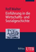 Einführung in die Wirtschafts- und Sozialgeschichte