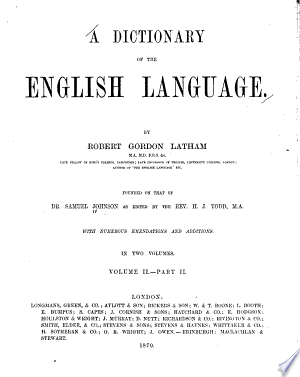 Read Online A Dictionary of the English Language Full Book