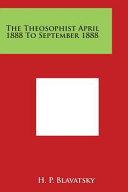 The Theosophist April 1888 To September 1888