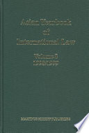 Asian Yearbook of International Law  Volume 8  1998 1999