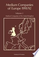 Medium Companies of Europe 1991 92