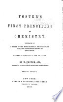Foster s First Principles of Chemistry