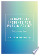 Behavioral Insights for Public Policy