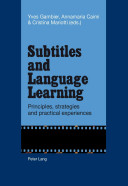 Subtitles and Language Learning