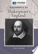 Documents Of Shakespeare S England