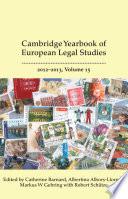 Cambridge Yearbook Of European Legal Studies Vol 15 2012 2013