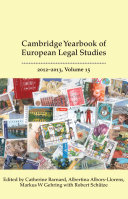 Cambridge Yearbook of European Legal Studies, Vol 15 2012-2013