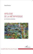 Pdf Apologie de la métaphysique Telecharger