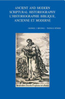 Ancient and Modern Scriptural Historiography