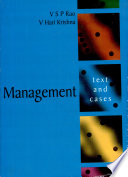 """Management: Text and Cases"" by V.S.P. Rao, V Hari Krishna"
