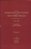 Index to Marriages and Deaths in the New York Herald: 1871-1876