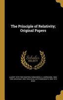 PRINCIPLE OF RELATIVITY ORIGIN