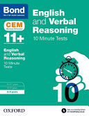 Bond 11+: English and Verbal Reasoning 10 Minute Tests 8-9 Years
