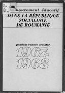 Le mouvement   ducatif dans la R  publique socialiste de Roumanie