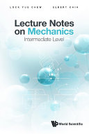 Lecture Notes On Mechanics  Intermediate Level
