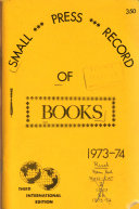 Small Press Record Of Books