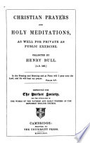 Christian Prayers and Holy Meditations Book