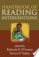 Handbook Of Reading Interventions Book PDF