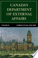 Canada S Department Of External Affairs Volume 2