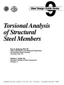Torsional Analysis of Structural Steel Members