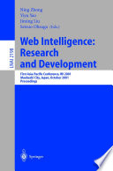 Web Intelligence  Research and Development Book