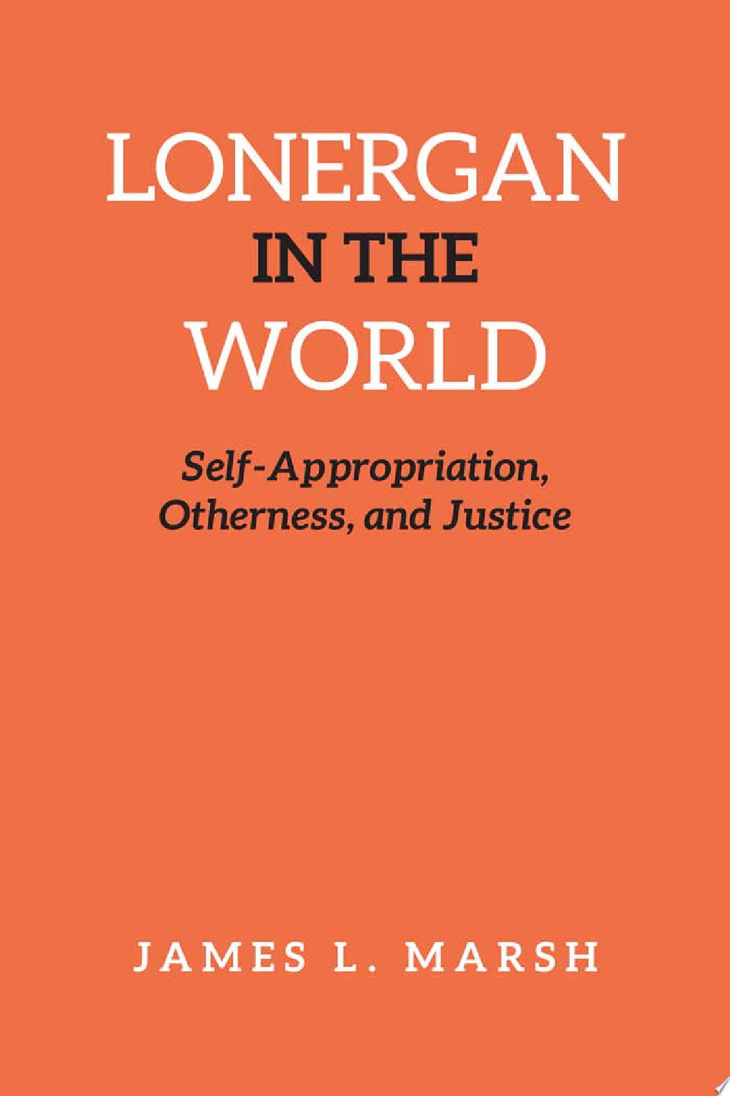 Lonergan in the World