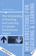 The Scholarship of Teaching and Learning in Canada  Institutional Impact