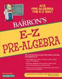 Barron's E-Z Pre-algebra