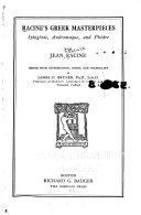 Racine's Greek Masterpieces