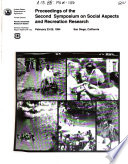 Proceedings Of The Second Symposium On Social Aspects And Recreation Research