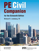 Pe Civil Companion for the Sixteenth Edition