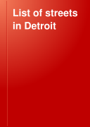 List of Streets in Detroit