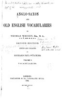 Anglo Saxon and Old English Vocabularies  Vocabularies