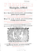 Prediche theologiche, & morali sopra li Vangeli di tutti i santi principali dell'anno