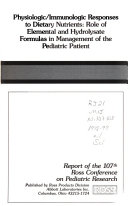 Report of the Ross Conference on Pediatric Research
