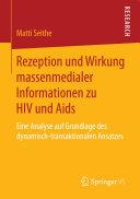 Pdf Rezeption und Wirkung massenmedialer Informationen zu HIV und Aids Telecharger