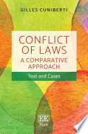 Conflict of Laws  A Comparative Approach