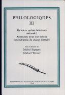 Philologiques