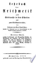 Lehrbuch der Arithmetik
