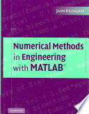 Numerical Methods In Engineering With Matlab  Book PDF