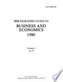 Bibliographic Guide to Business and Economics