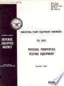 Physical Properties Testing Equipment Book